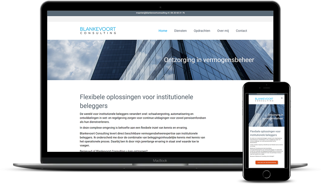 Mockup Blankevoort Consulting