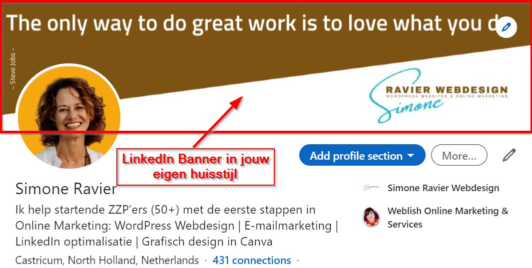 LinkedIn banner in jouw huisstijl